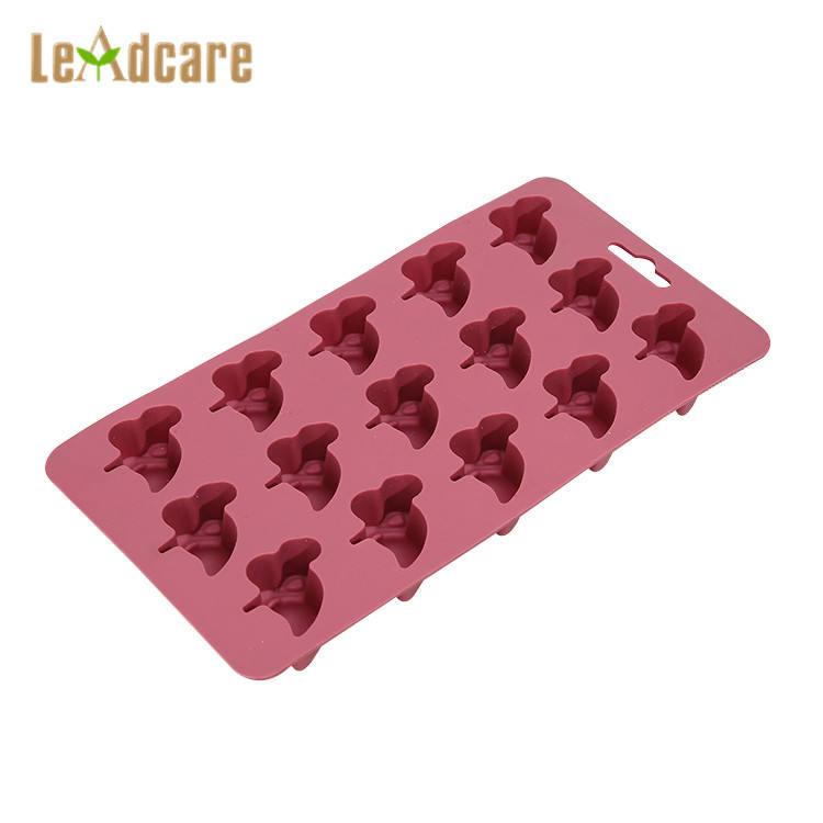 Offre Spéciale de Catégorie Comestible Libre de Cavité Multi Blocs Mini Bac à Glaçons En Silicone Carré avec Couvercle