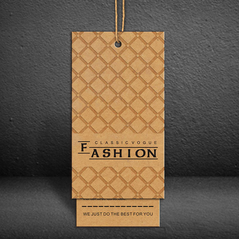 Customized recycled paper hang tags/ jeans kraft paper hang tag/kids clothing hangtag for kid
