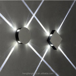 AC100-265V Bathroom Bedroom 12W Wall Sconce star cross square four side bright LED Wall Light Indoor Lighting