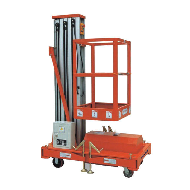 150kg 330lbs 6m Tilting Aluminium Alloy Lifting Platform with Single Mast