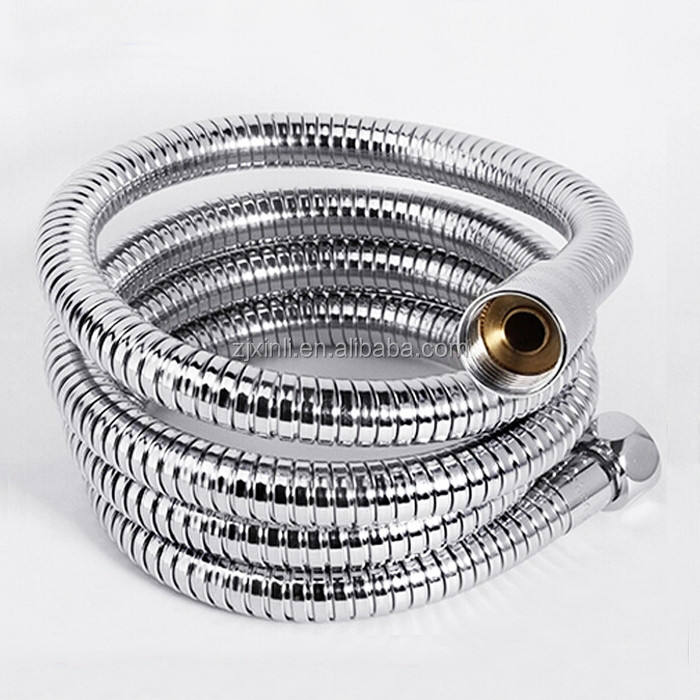 Double Lock Stainless Steel Shower Hose with Brass Nut, X18210