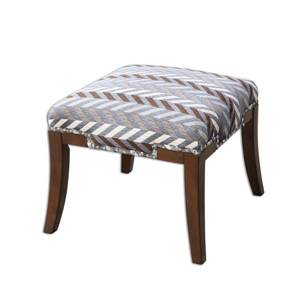 OT-097 Solid Birch Wood Stool With Fabric Cushion