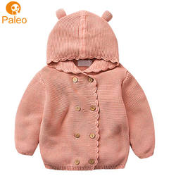 Manufacturer Custom 100% cotton material children age group knitted baby girls winter coats