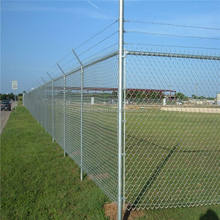High quality chain link fence top barbed wire
