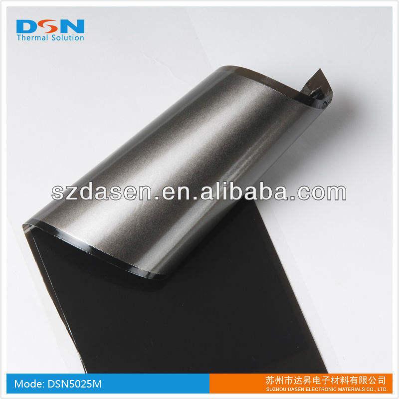 0.025mm pgs folha de grafite para laptop dissipação de calor( naked; com o filme de pet, ou adesivo, ou ambos)