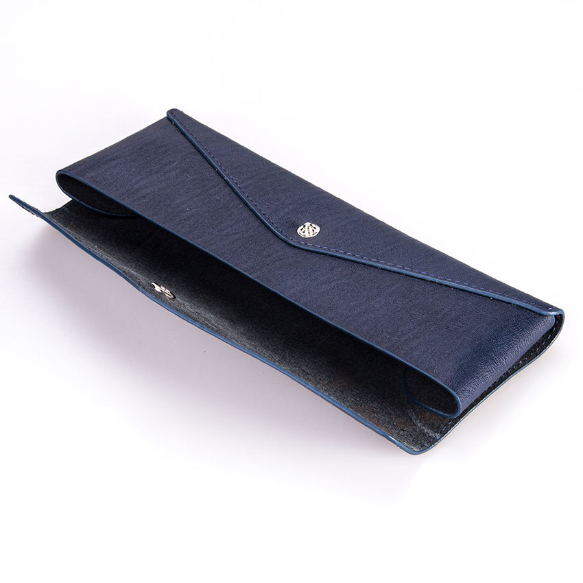 Factory Pen Case Glasses Holder Split Genuine Leather Zippered Pencil Pouch