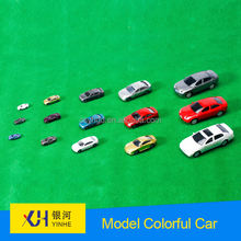 architectural scale model colorful  car