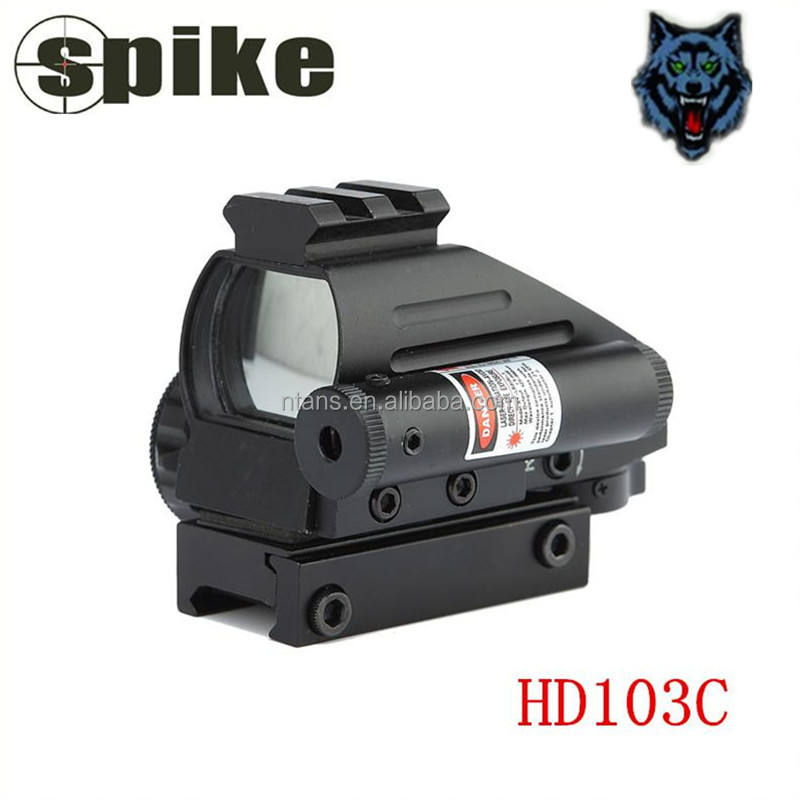 Spike Tactische Red Dot Sight/Tactische Red Dot Scope 4 Dradenkruisen met Rode Laser