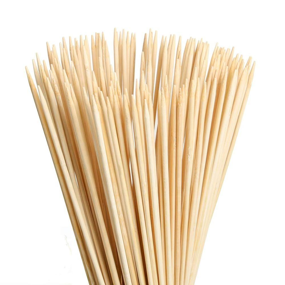 Long bamboo marshmallow roasting sticks outdoor Campfire BBQ sticks with blunt point