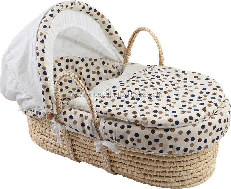 Cheap hand woven baby basket set moses basket for baby Plush-DO