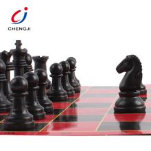 High quality 2 in 1 outdoor indoor play game intellectual plastic chess set, chess board set