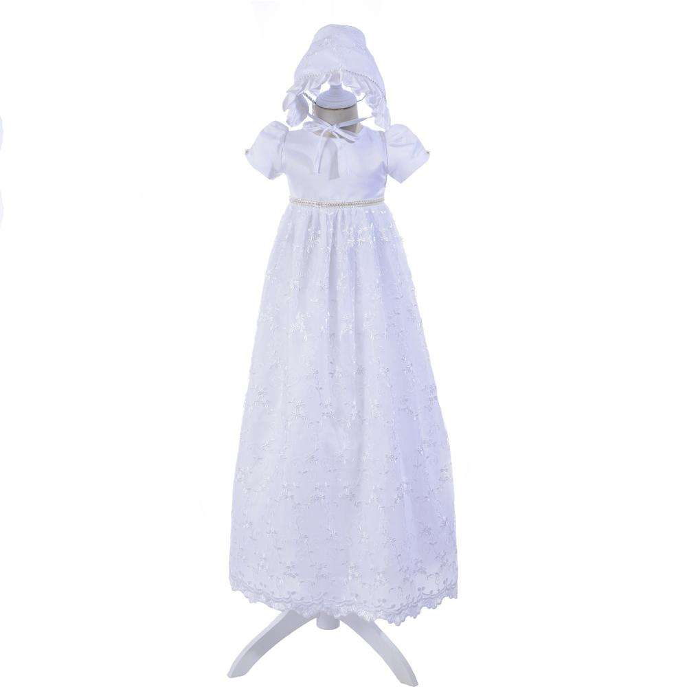 new hot selling products 100 cotton infant kids 2 year old girl white mix dress