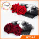Large black lace hair band hair accessories red roses cosplay Lolita headband