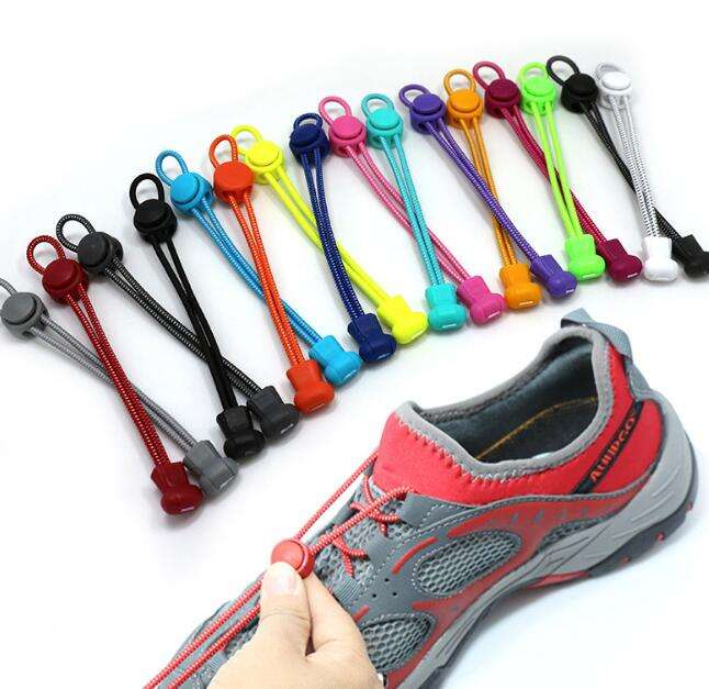 High quality Lazy Elastic Shoelaces Fastening / Colourful Athletic Shoe laces
