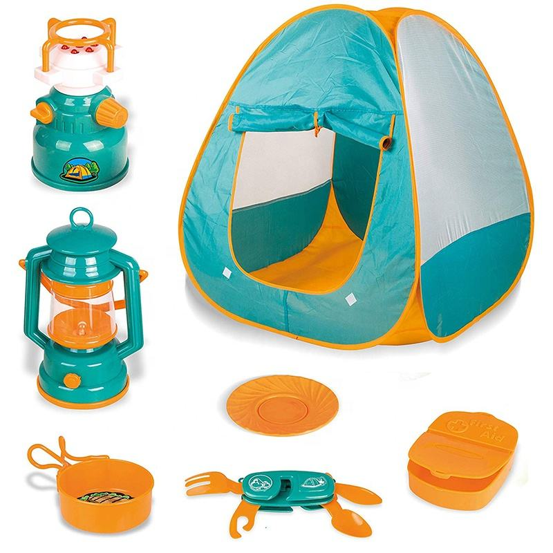 7 Pcs Kids <span class=keywords><strong>Pop</strong></span> Up Play <span class=keywords><strong>Tent</strong></span> Met Camping Gear Outdoor <span class=keywords><strong>Speelgoed</strong></span> Gereedschap Kamp Sets