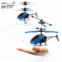 DWI Dowellin colorful lights mini helicopter up and down induction aircraft for child