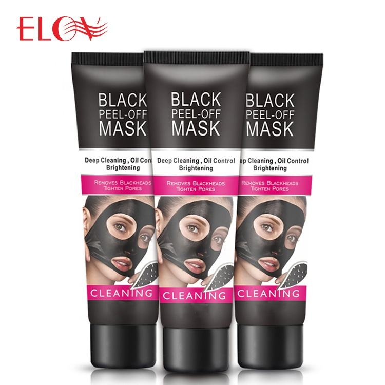Private label black mud face deep cleansing peel off blackhead remover facial mask