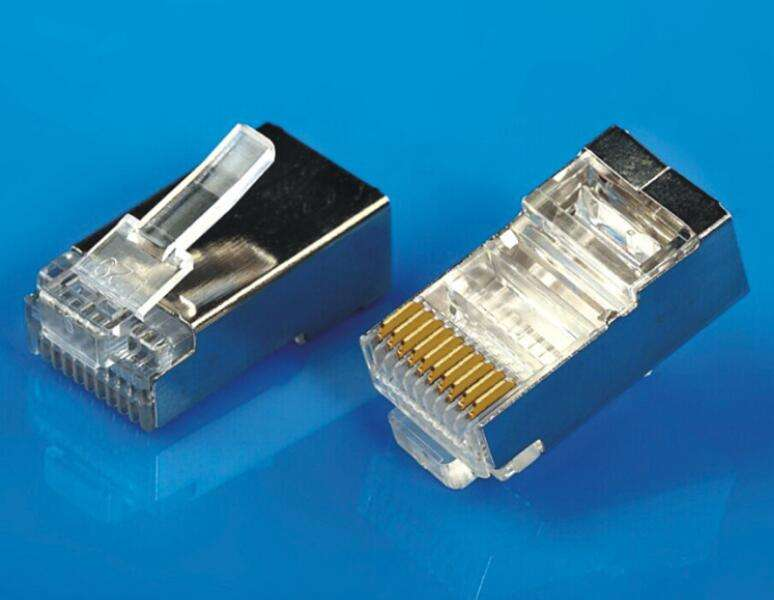 10P10C CAVO ETHERNET END di Codici A Barre Laser Gun Shield CONNETTORE MODULARE RJ-50