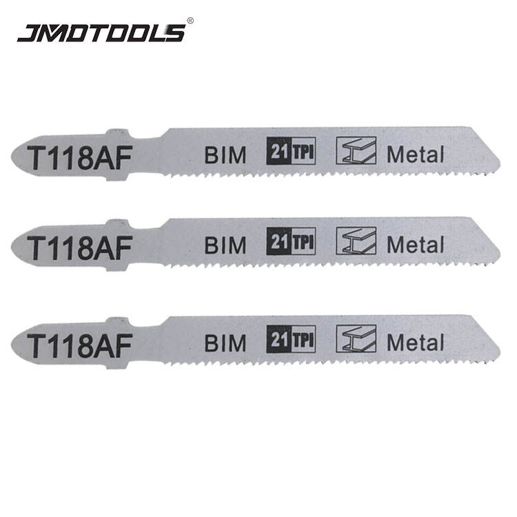 Electric power tools T118AF 5PCS BIM 21TPI metal cutting t-shank jig saw blade jigsaw blades