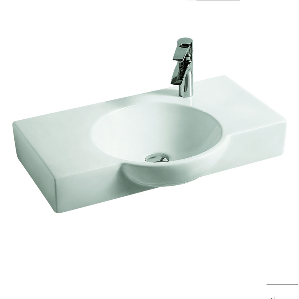 HY-5870 wall hung chaozhou square bathroom ceramic black sanitary ware
