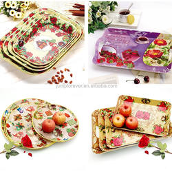 household daily promotion gift plastic flower plate