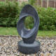 Xiamen Supplier Granite Stone Wolf Water Fountain for Garden Decor