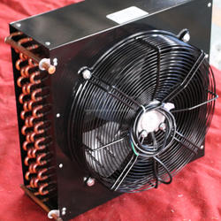 Air cooled copper condenser used for cold room refrigeration unit