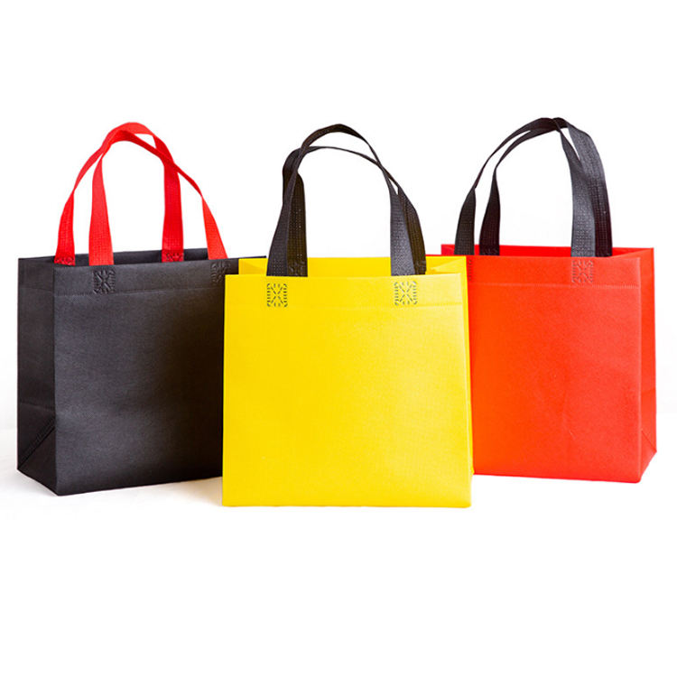 Promotional reusable grocery shopping non woven tote bags