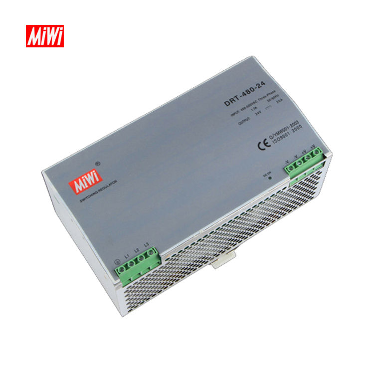 DRT-480-24 power supply 24vdc din 20a 12v 24v din rail ac to dc transformer power supply