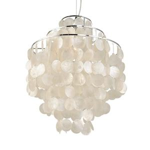 China wholesale rustic hanging pendant lamp philippines real capiz sea shell lighting chandelier