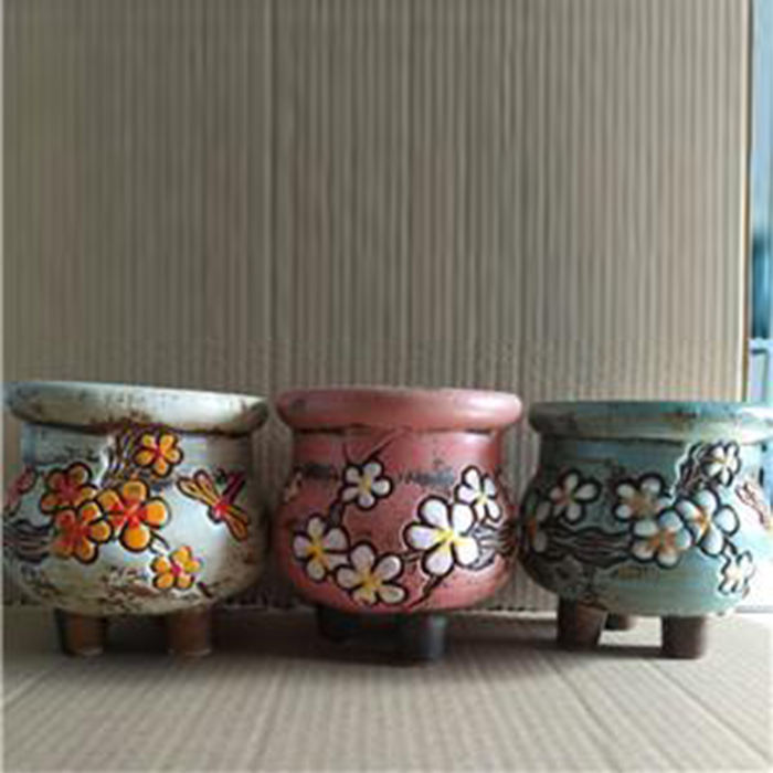 Корейский сад горшок цветок Декор ручной росписью керамические цветочные горшки.