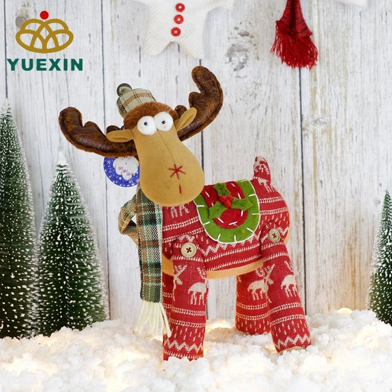 Hot Sell 11 Inch Deer Textile Festival Products Big Christmas Decoration 2018 Christmas Reindeer