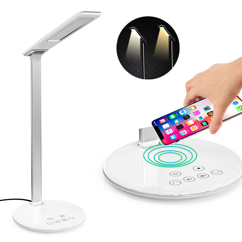 Behenda Touch Control 3 Color Modes Table Lamps LED Desk Lamp Night Light Qi Wireless Charger with Timer Brightness Adjustable