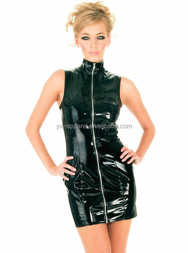 sexy leather dress women women suits latex pvc leather suits