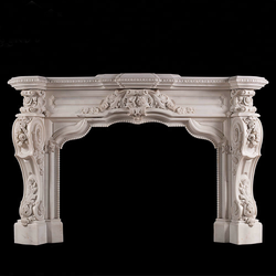 White marble stone fireplace antique marble fireplace