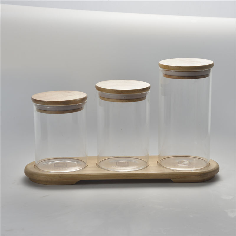 Glass Jars Weed Glass Jars With Wood Lid Glass Jars Containers