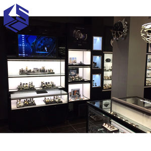 Hot sale glass display cabinets commercial retail store furniture watch display showcase cabinet