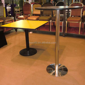 wholesale stainless steel base high top bar table/used for cocktail table