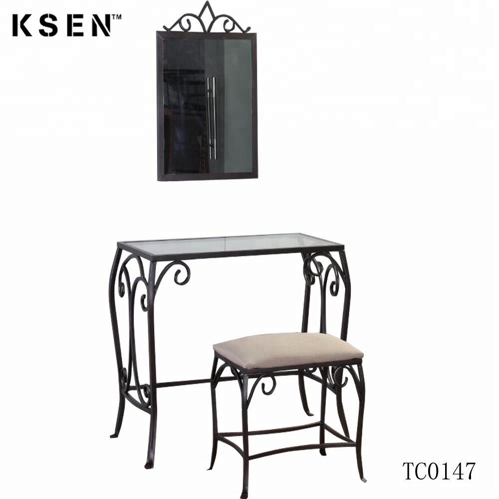 Metal frame antique make up dresser table with mirror TC0147