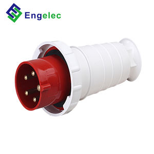 220V ~ 380V / 240v ~ 415v IP67 63A 3P + N + rojo color PA material YHT-035 modelo impermeable industrial macho