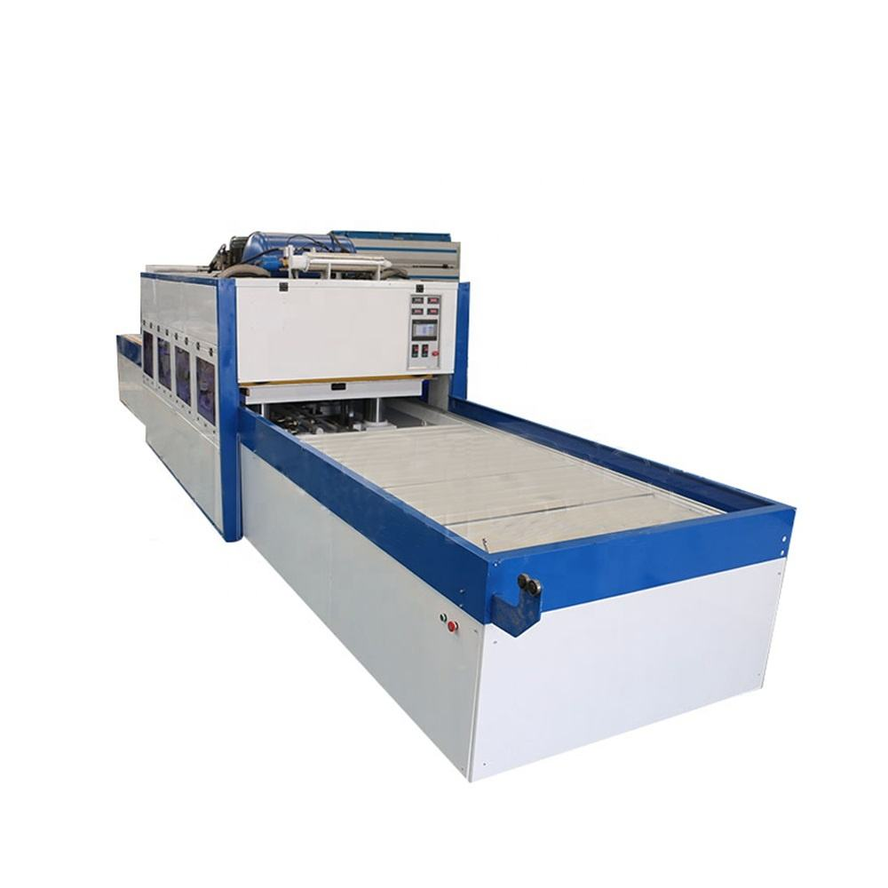 Positive and negative membrane press machine for veneer