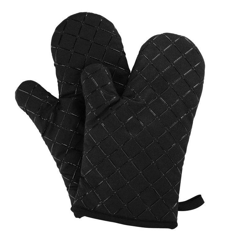 New Product Doublecustomized Oven Mitt Silicone Heat Resistant Kitchen Oven Gloves