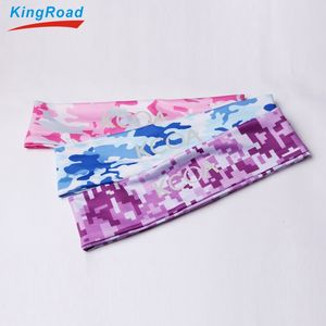 Unisex yoga spandex fitness thin elastic sports headband dry-fit custom logo hair band