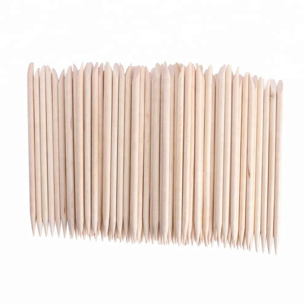 Nail Art Design Orange Wood Stick Sticks Cuticle Pusher Remover Manicure Pedicure Care Nail Art Cuticle Pusher