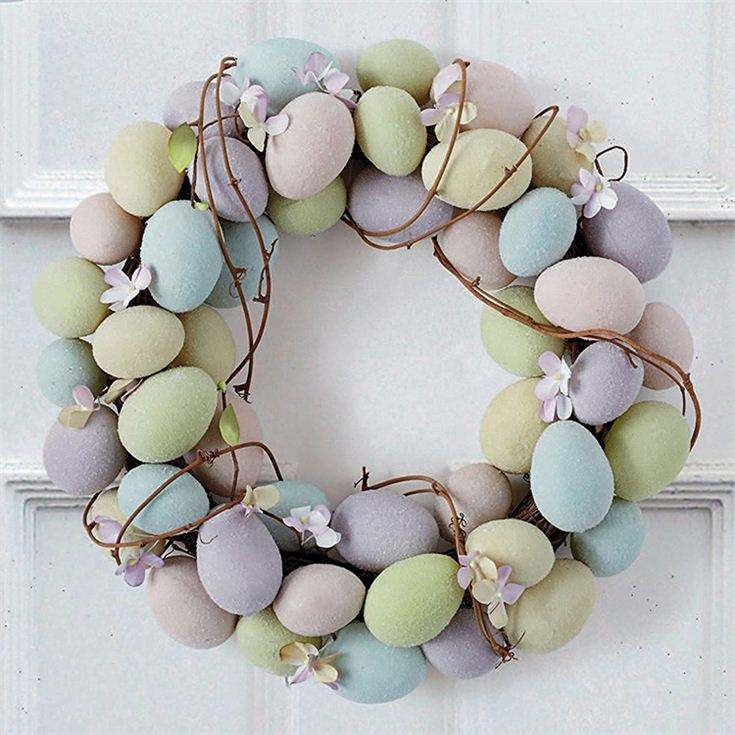 China suppliers home wall easter decoration straw egg wreath