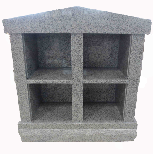 whole sale light grey granite columbarium design