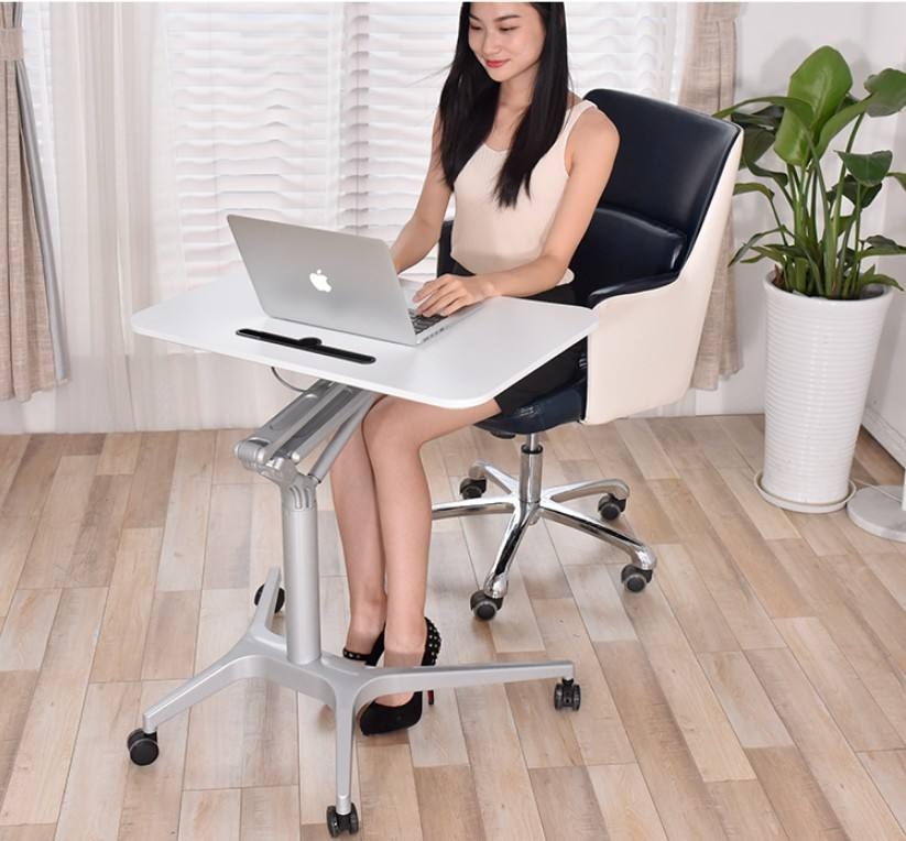 pneumatic Height adjustable sit to stand computer table side table for home and office use