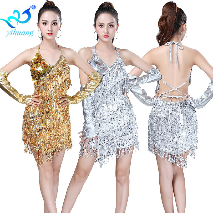 2019 Women/'s Latin Rumba Tango Samba diamante Competition Dance Dress 037