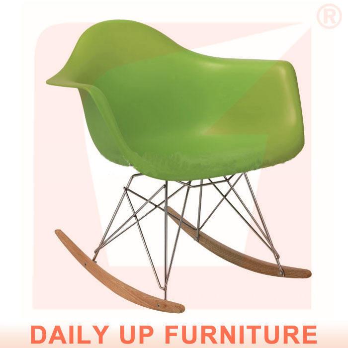 rar Eames ghế giải trí ghế abs gỗ rocking chair ban công đu ghế nhựa ngoài trời ghế gỗ vườn ghế