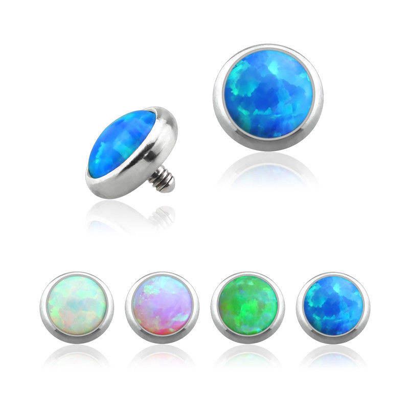 Micro Dermal Body Jewelry Anchor Tops 14g G23 TITANIUM ALLERGY FREE Blue Anchor